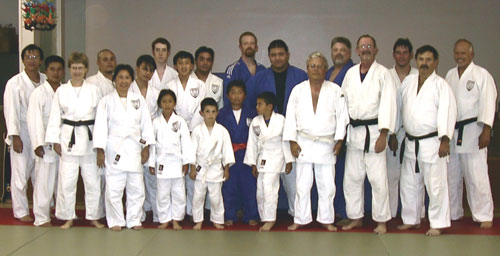 Encino Judo Club class on May 10, 2005